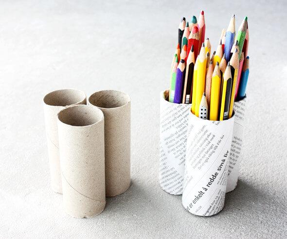 20 id es pour recycler les rouleaux de papier toilettes. Black Bedroom Furniture Sets. Home Design Ideas