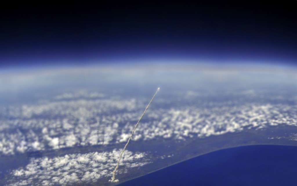View of Space Shuttle Atlantis from the International Space Station