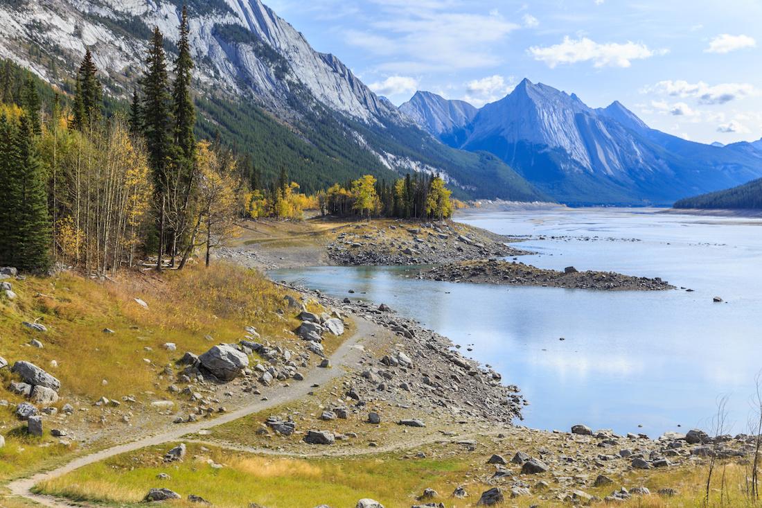 Medicine Lake, Icefields Parkway, Alberta, Canada