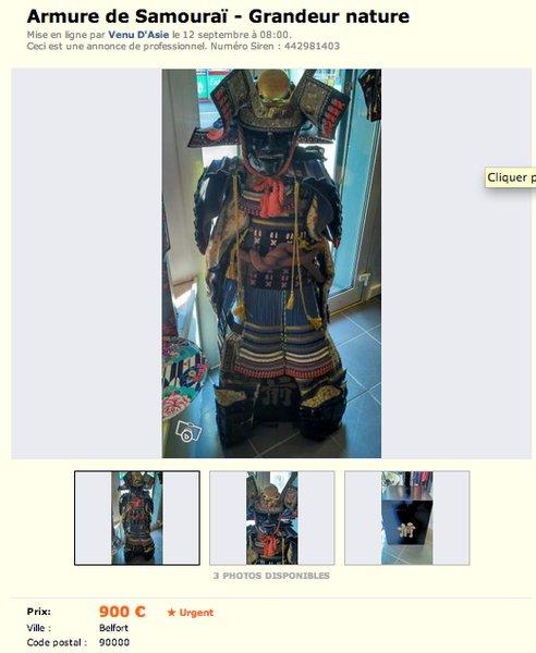 Armure de samourai