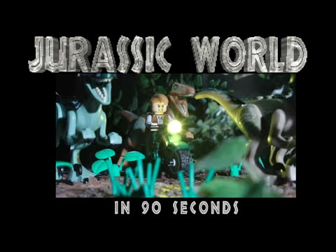 Jurassic World résumé en 90 seconds (Version LEGO)
