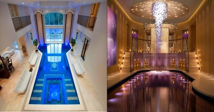 17 piscines d 39 int rieur qui font r ver. Black Bedroom Furniture Sets. Home Design Ideas