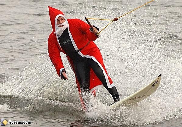 Le Père Noël en vacances