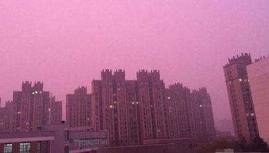 Chine brouillard violet