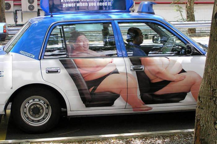 Taxi qui vous grossit