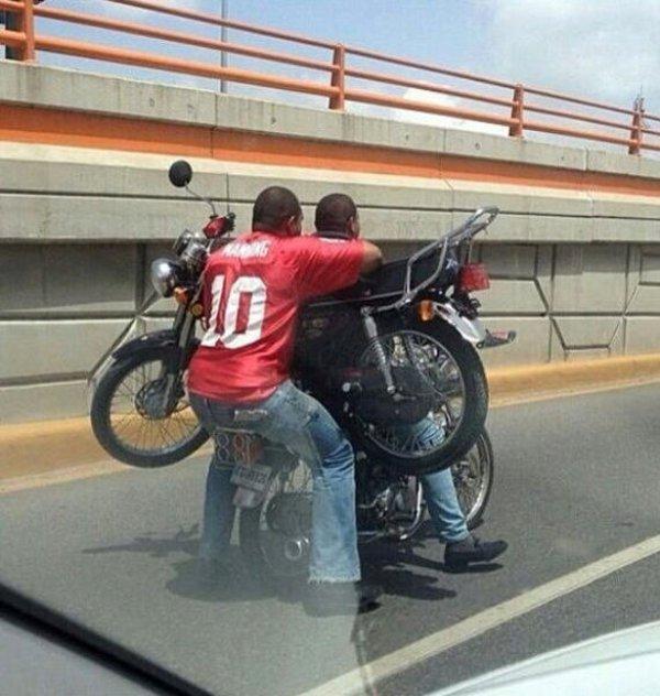 Transport d'une moto