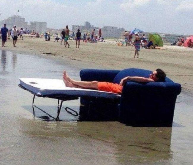Dormir sur la plage