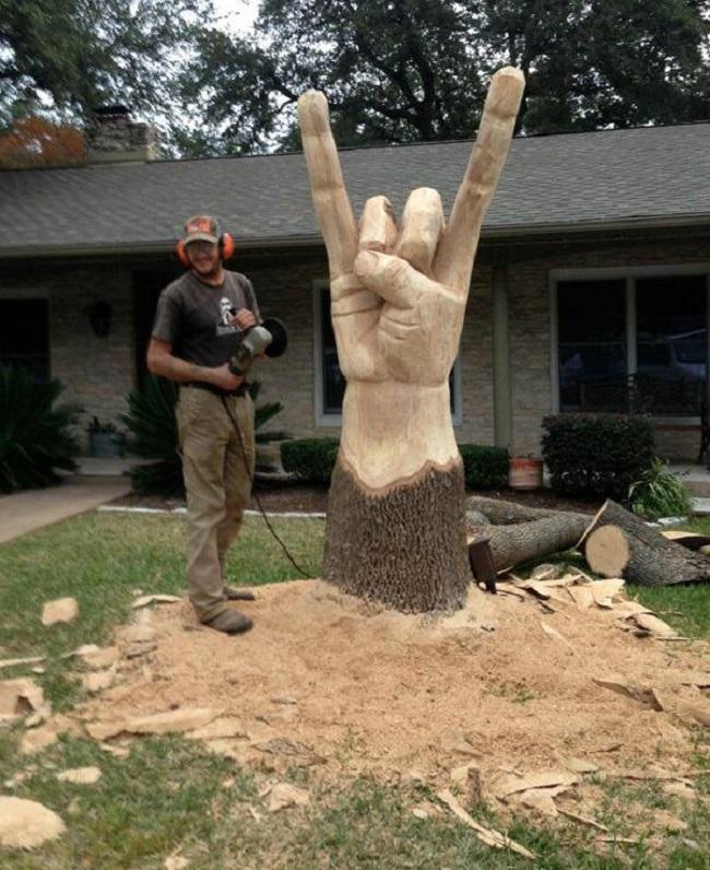 Sculpture d'un arbre