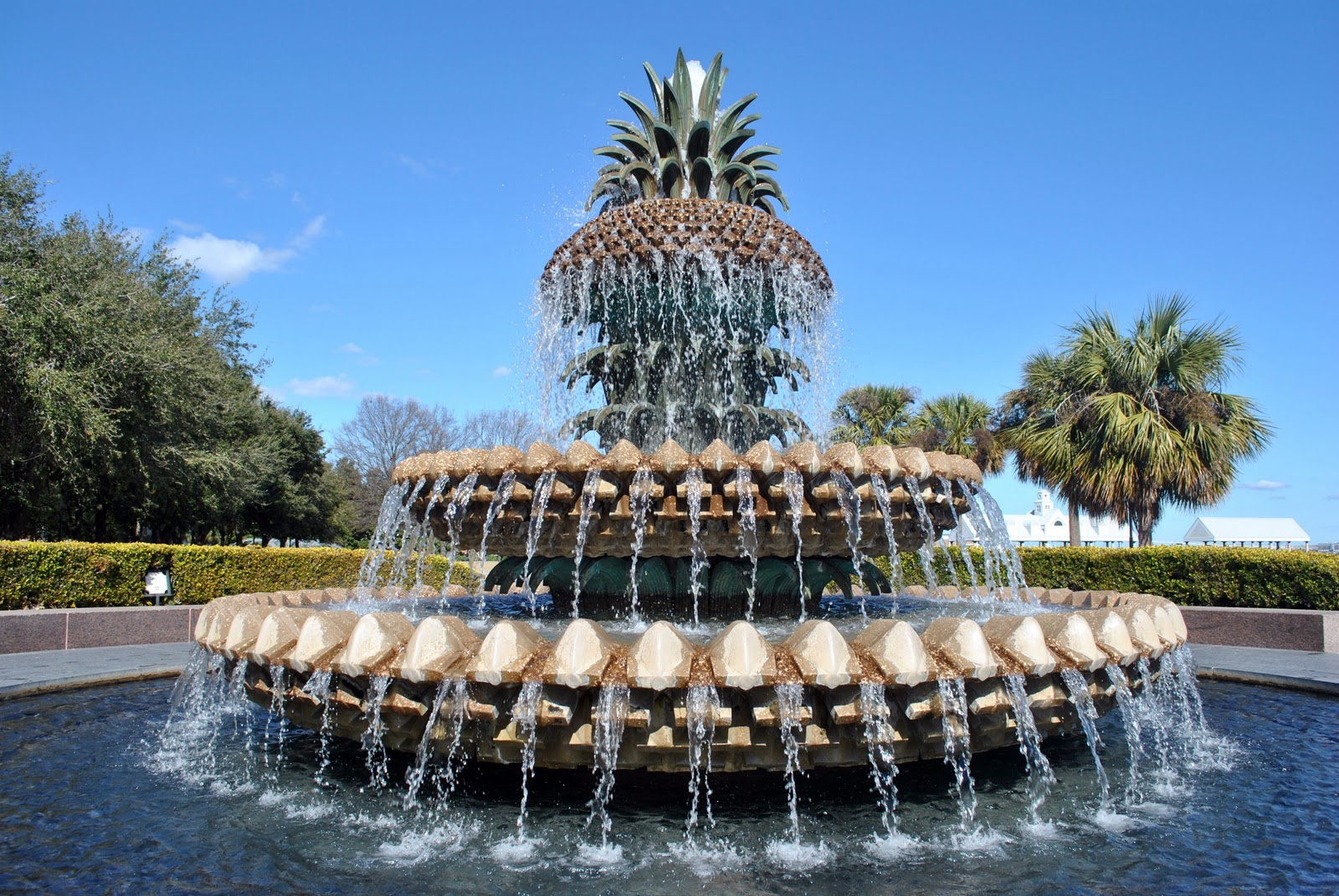 18. Pineapple Fountain, Waterfront Park, Charleston, SC, USA.