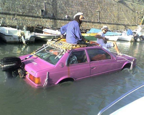 Véhicule barque