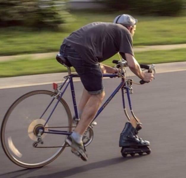 Remplacer la roue de son vélo par des rollers