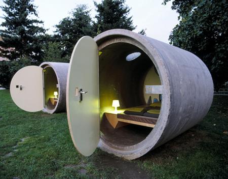 Dormir dans un tube de béton - Autriche