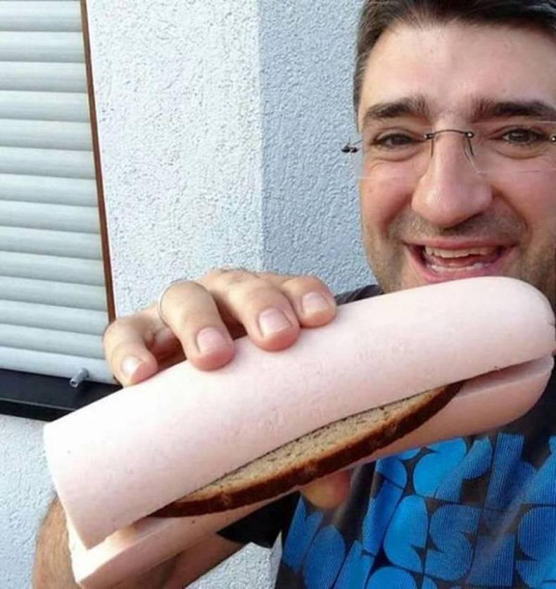 Sandwich à l'envers