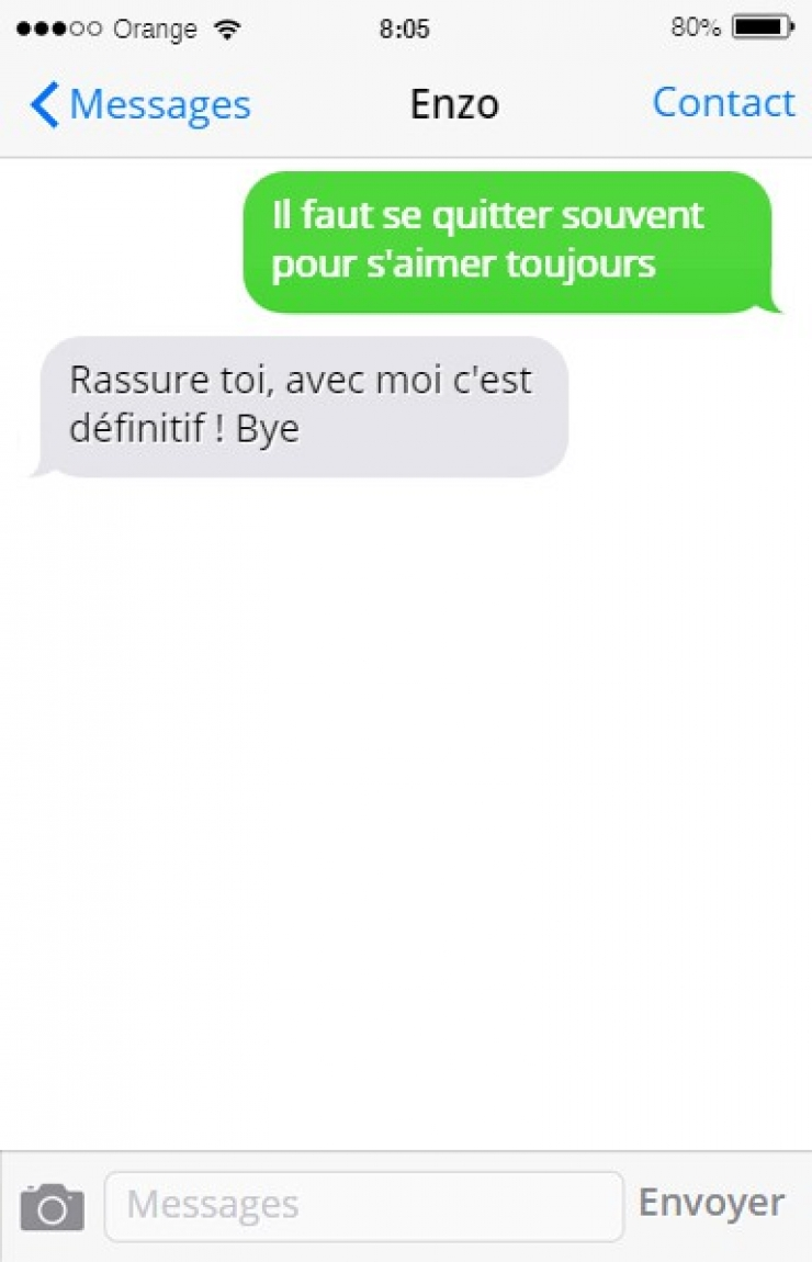 sms quitte rupture definitive
